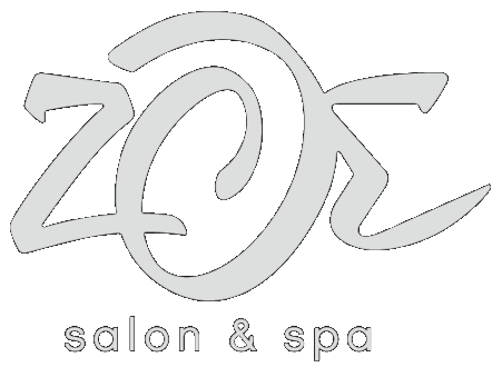 white Zoe Salon Spa Logo